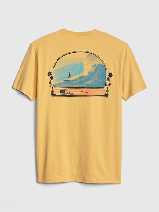 Grafik Sıfır Yaka T-Shirt