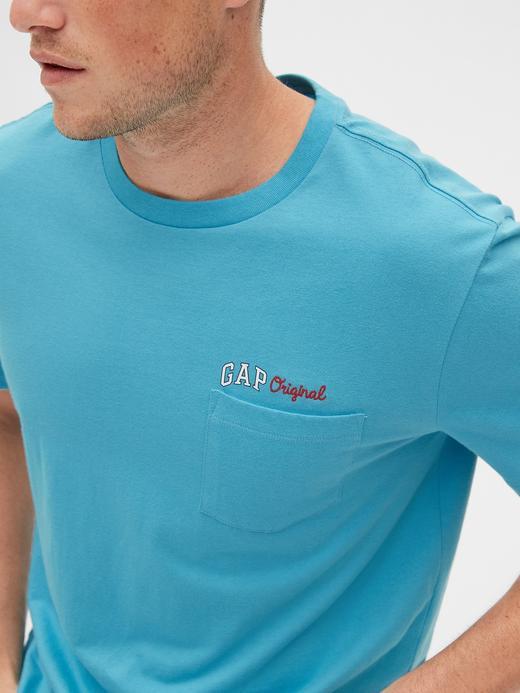 Erkek lacivert Gap Original Logo Cepli T-Shirt