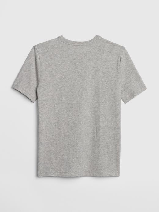 Erkek Çocuk lacivert Grafik Desenli Kısa Kollu T-Shirt