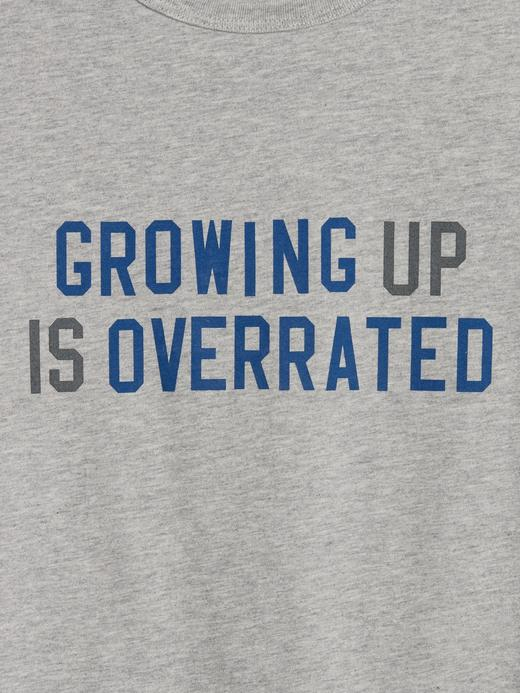 Erkek Çocuk gri Grafik Desenli Kısa Kollu T-Shirt