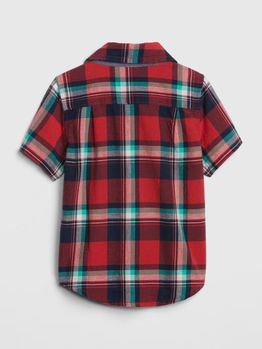 Ekose Kısa Kollu Gömlek