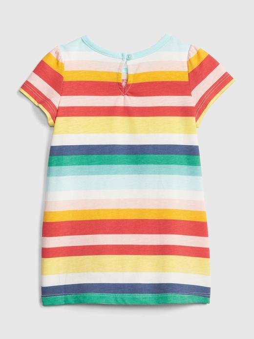 Kız Bebek Gap Logo Çizgili Elbise