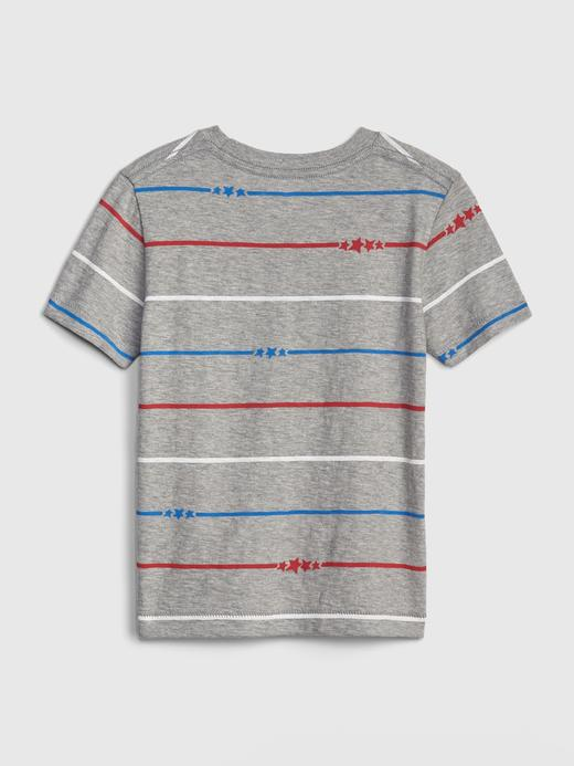 Bebek mavi Erkek Bebek Çizgili Kısa Kollu T-Shirt