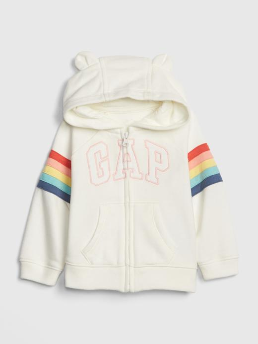 Kız Bebek Gap Logo Kapüşonlu Sweatshirt