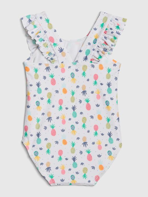 Kız Bebek Desenli Kolsuz Mayo