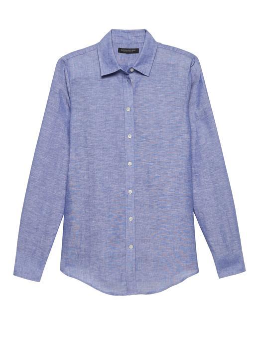 Kadın mavi Dillon Klasik Kesim Gömlek