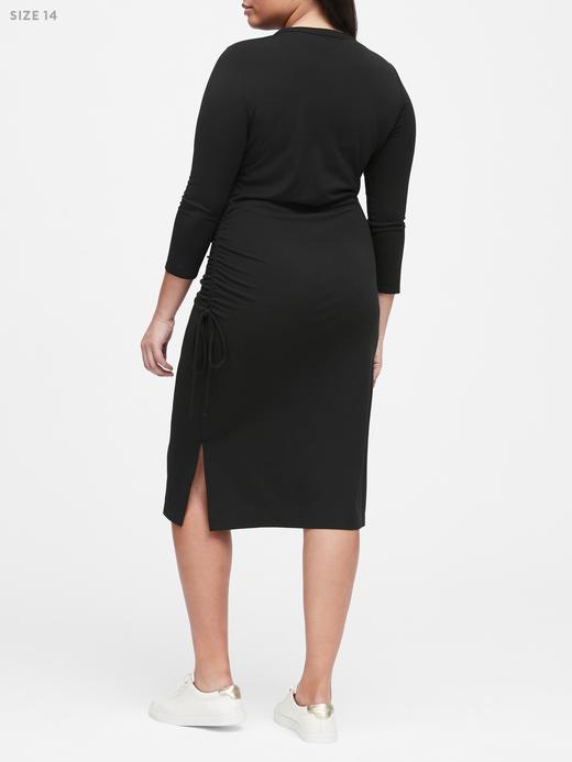 Kadın bordo Midi T-Shirt Elbise