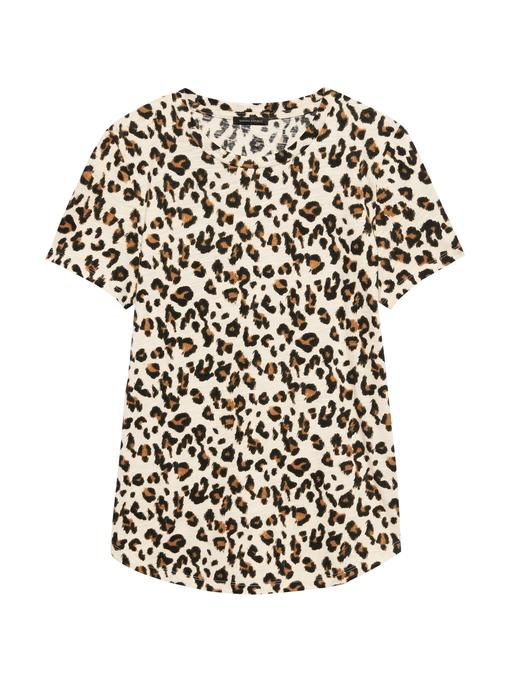 Pamuk-Modal Karışımı Sıfır Yaka T-Shirt