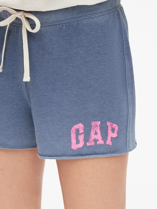Kadın mavi Kadın Vintage Gap Logo Şort