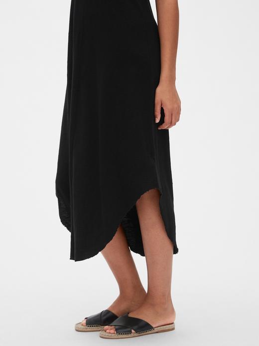 Kadın Pembe Kadın V-Yaka Midi Elbise
