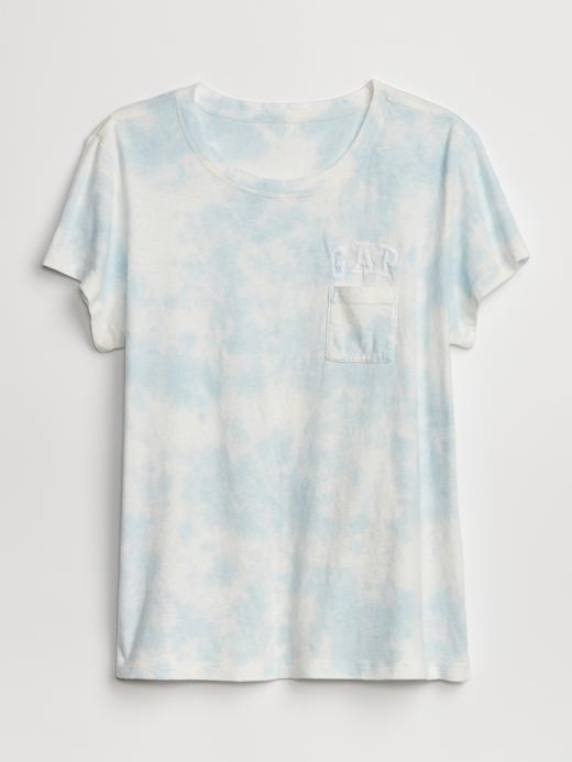 Kadın Gap Logo Tie-Dye Cepli T-Shirt
