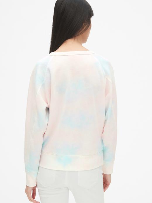Kadın Gap Logo Tie-Dye Sweatshirt