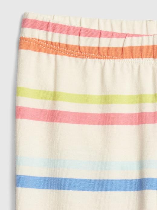 Bebek çok renkli çizgili Kız Bebek Kapri Legging