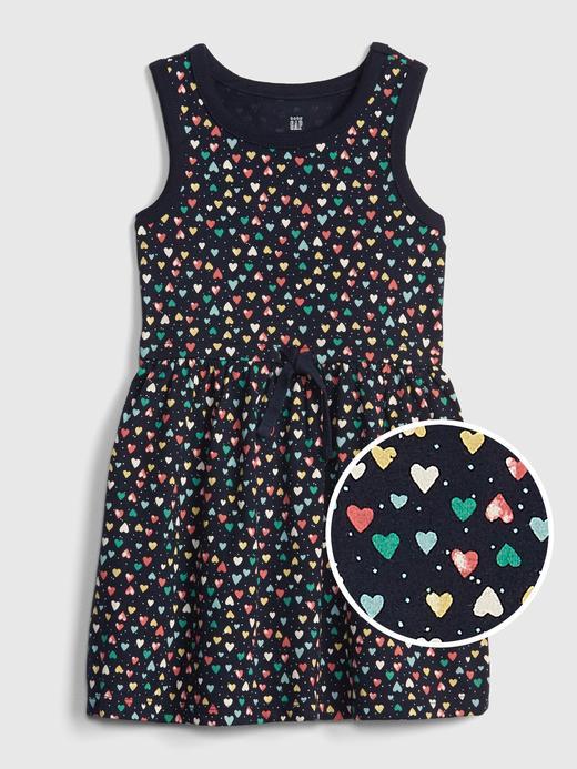 Kız Bebek Desenli Kolsuz Elbise