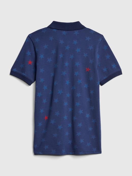 Erkek Çocuk açık mavi Erkek Çocuk Desenli Polo T-Shirt