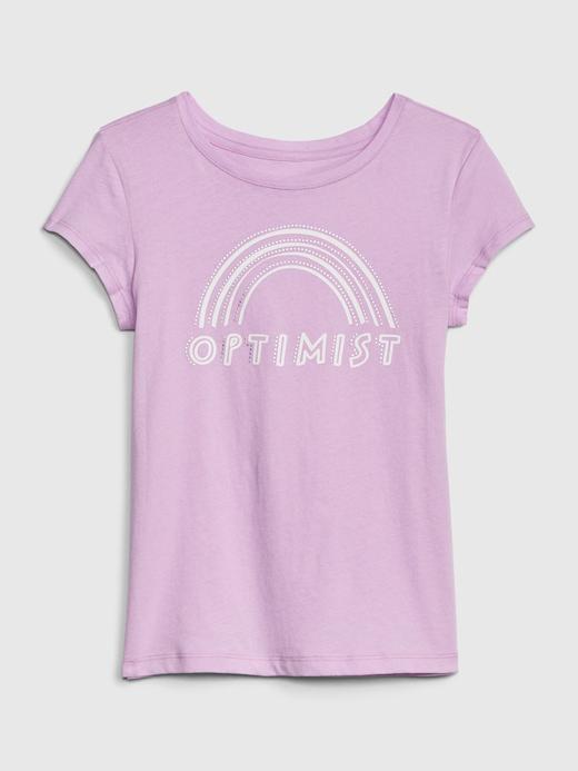 Kız Çocuk Mor Kız Çocuk Grafik Baskılı Kısa Kollu T-Shirt