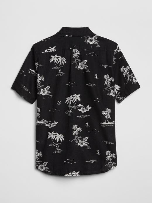 Desenli Kısa Kollu Gömlek