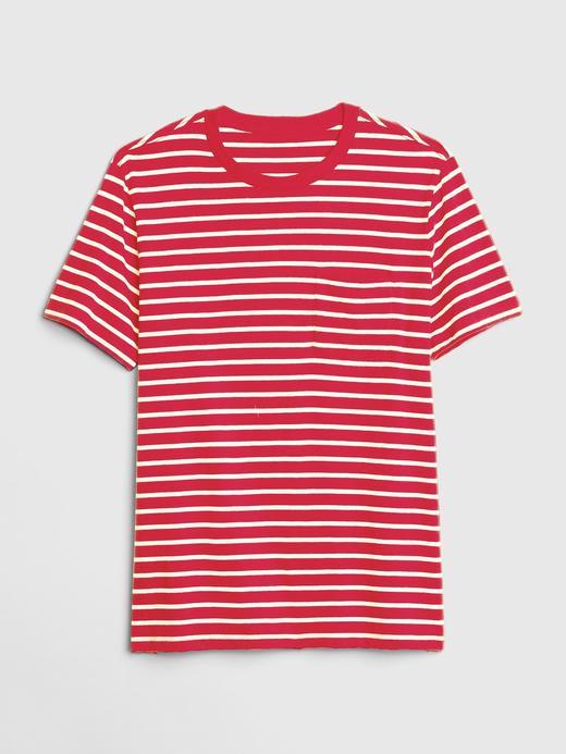 Erkek Çizgili Cepli T-Shirt