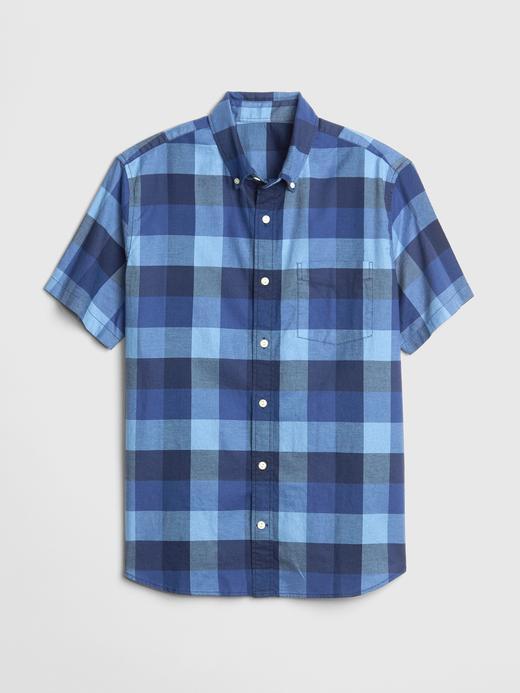 Erkek Oxford Kısa Kollu Gömlek
