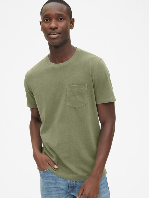 Erkek Vintage Wash Cepli T-Shirt