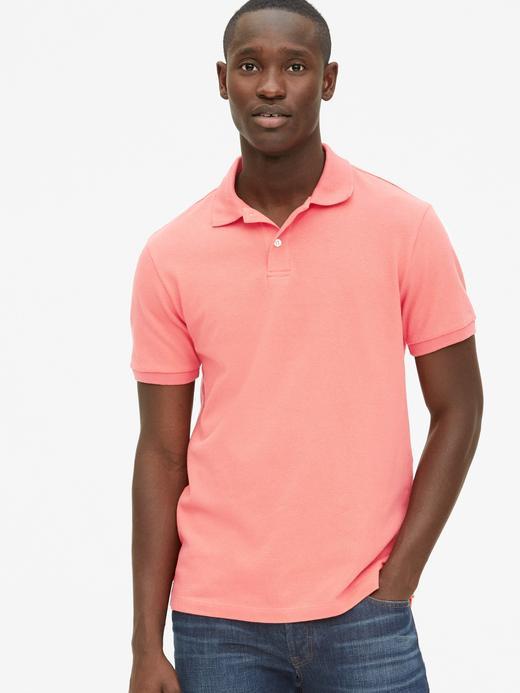 Erkek  Kısa Kollu Pique Polo Yaka T-Shirt