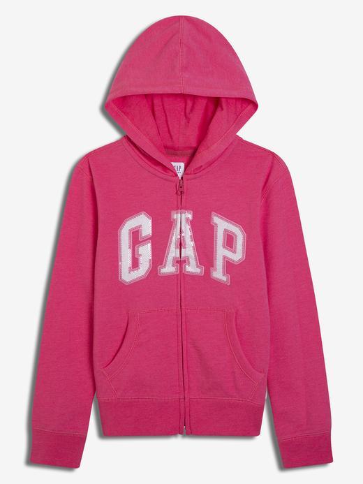 Kız Çocuk pembe Kız Çocuk Gap Logo Kapüşonlu Sweatshirt