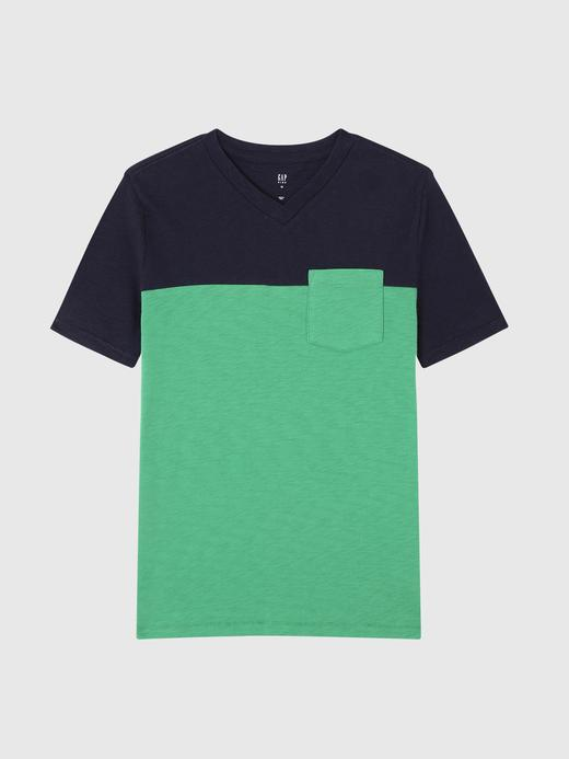 Colorblock V-Yaka T-shirt