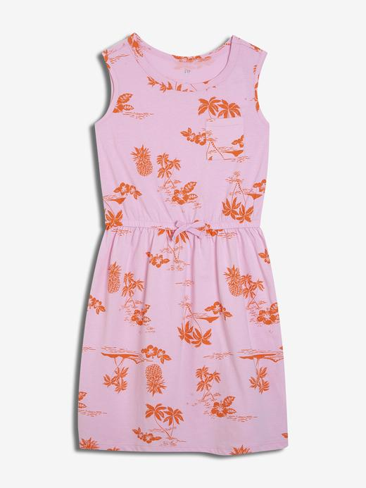 Desenli Kolsuz Elbise