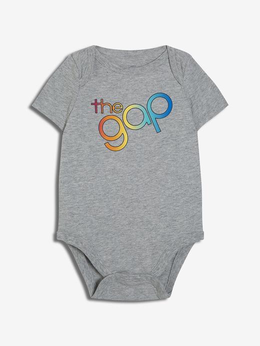 Erkek Bebek Logo Kısa Kollu Body