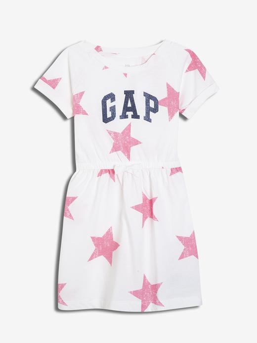Kız Bebek Logo Kısa Kollu Elbise