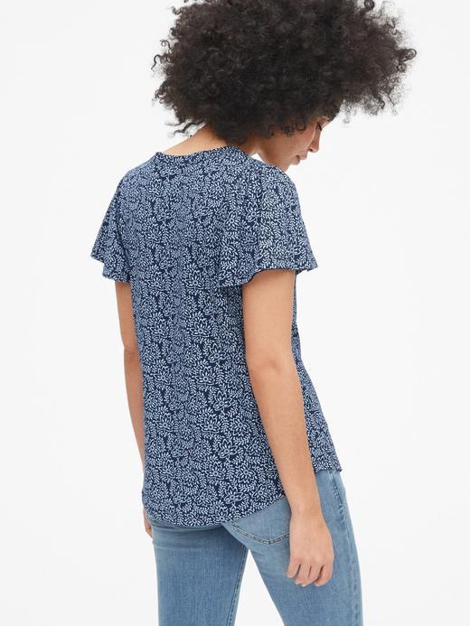 Kadın Desenli Kısa Kollu T-Shirt