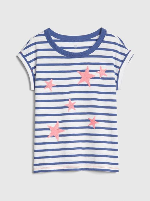 Kız Çocuk bej Kız Çocuk Grafik Kısa Kollu T-Shirt