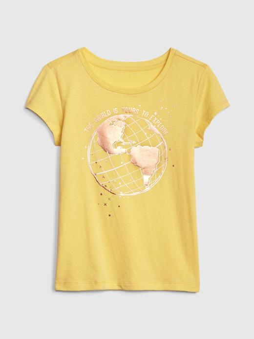 Kız Çocuk Grafik Baskılı Kısa Kollu T-Shirt
