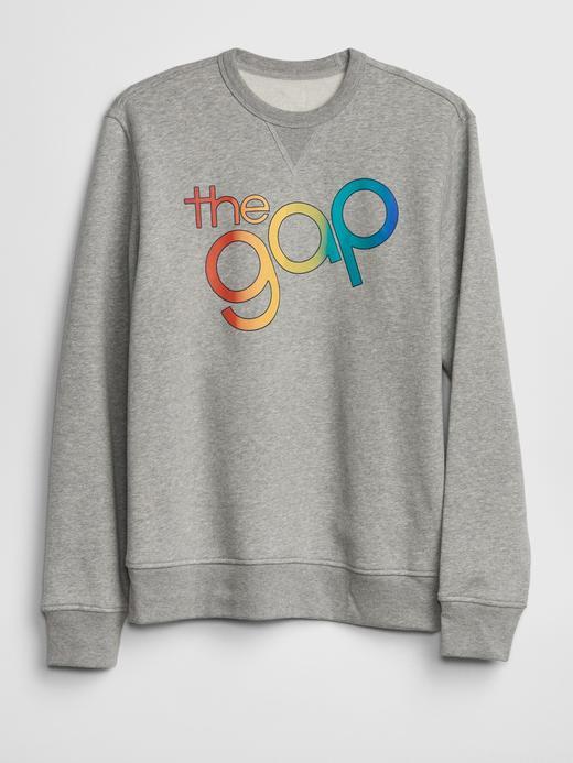 Erkek Gap Logo Sıfır Yaka Sweatshirt