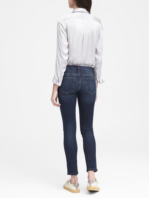 Slim-Straight Koyu Yıkama Jean Pantolon