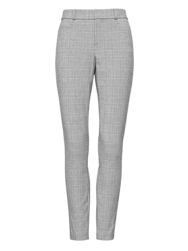 Kadın gri Sloan Skinny-Fit Ekose Pantolon