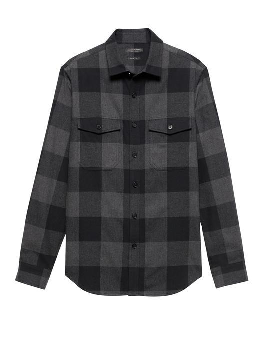 Slim Flanel Gömlek Ceket