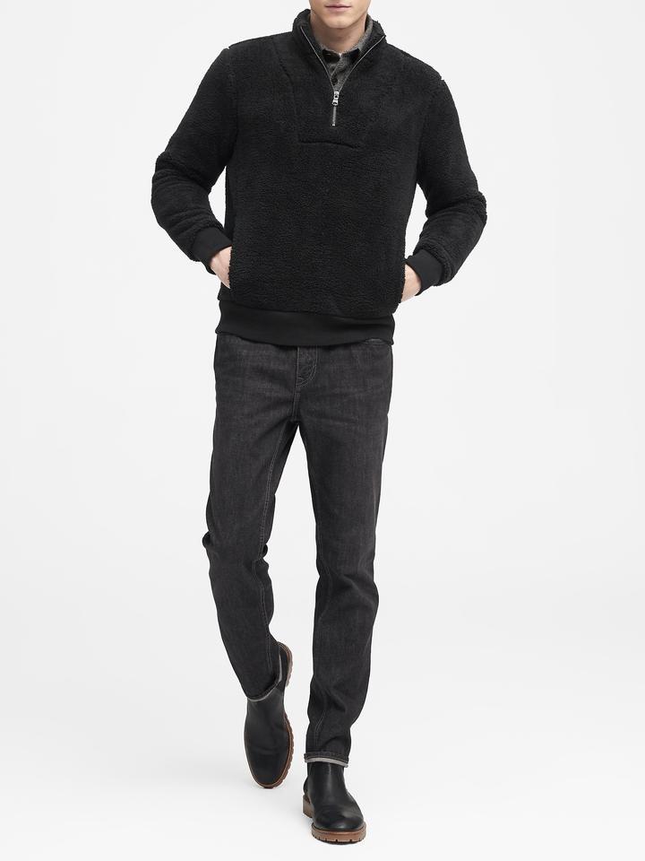Sherpa Yarım Fermuarlı Sweatshirt