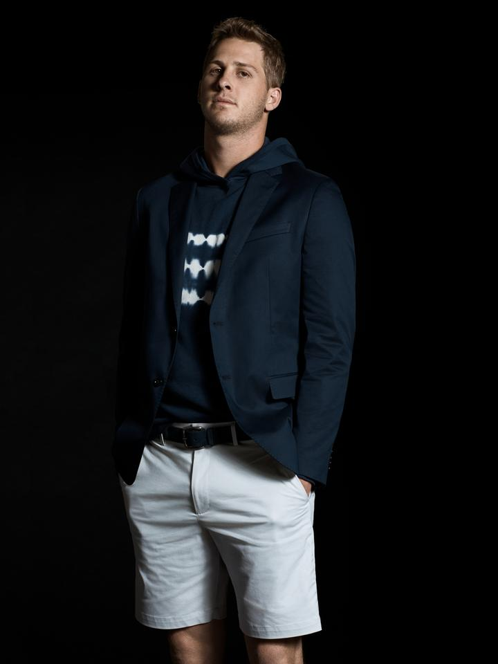 Erkek Mavi Aiden Slim Core Temp Şort