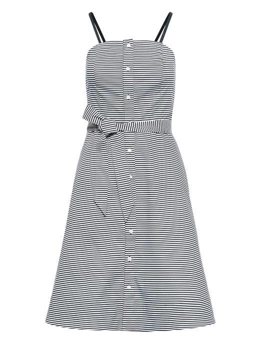 Poplin Düğme Detaylı Elbise