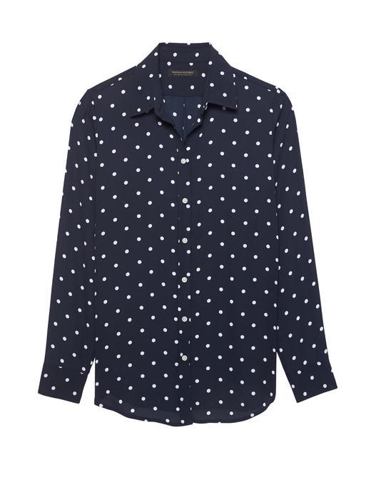 Kadın puantiyeli Classic-Fit Desenli Gömlek