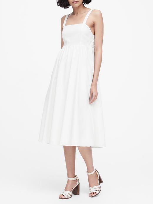 Poplin Midi Elbise