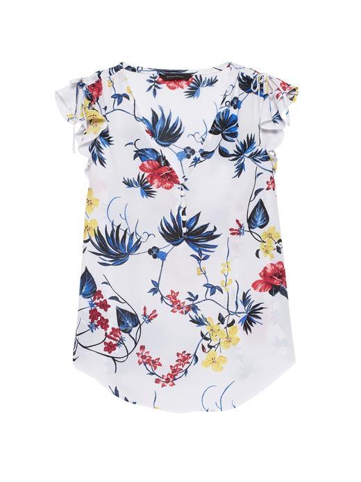 Kadın çok renkli Desenli Kolsuz Bluz