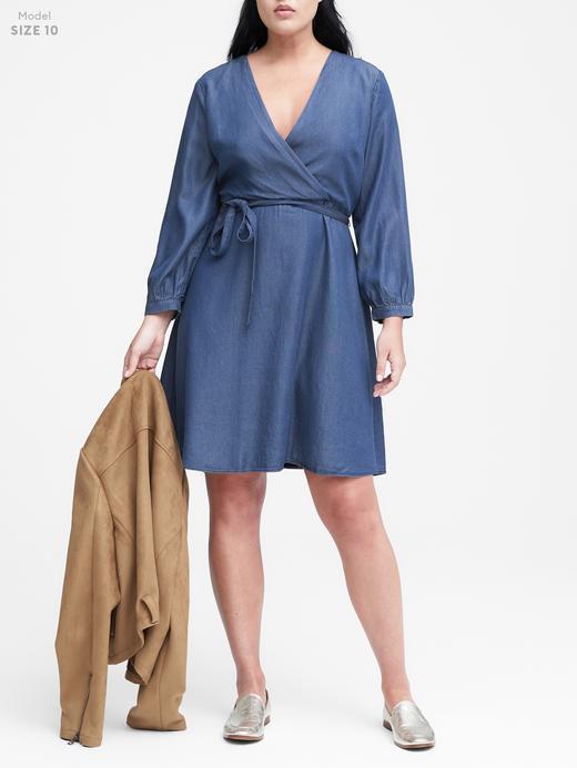 TENCEL ™ Chambray Anvelop Elbise