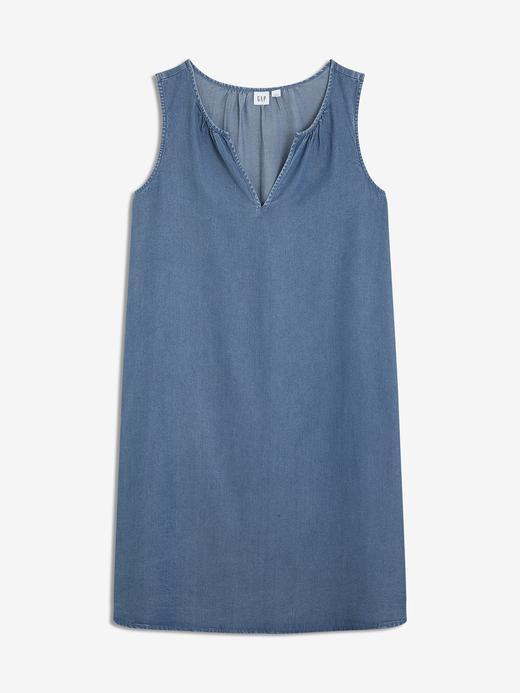 Kadın orta yıkama Tencel™ Kolsuz  Elbise