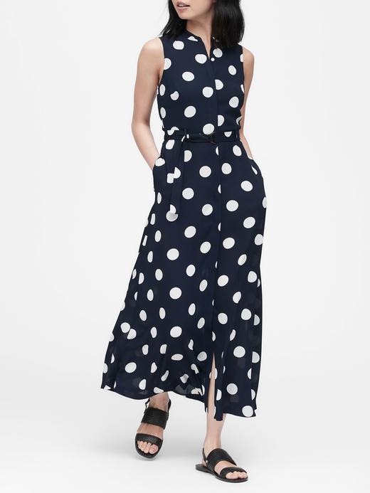 Kadın Lacivert Puantiyeli Elbise