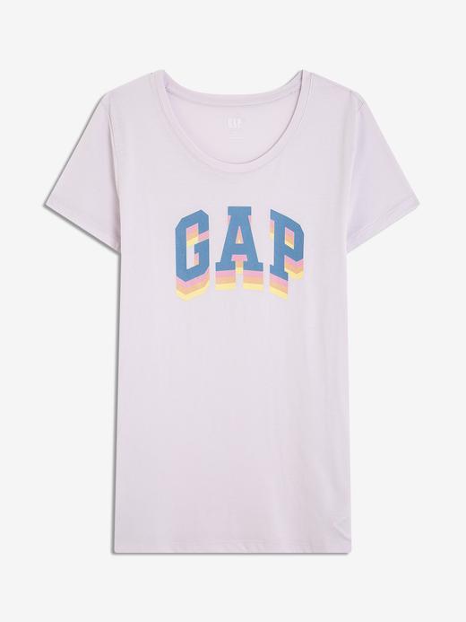 Kadın mor Gap Logo T-Shirt