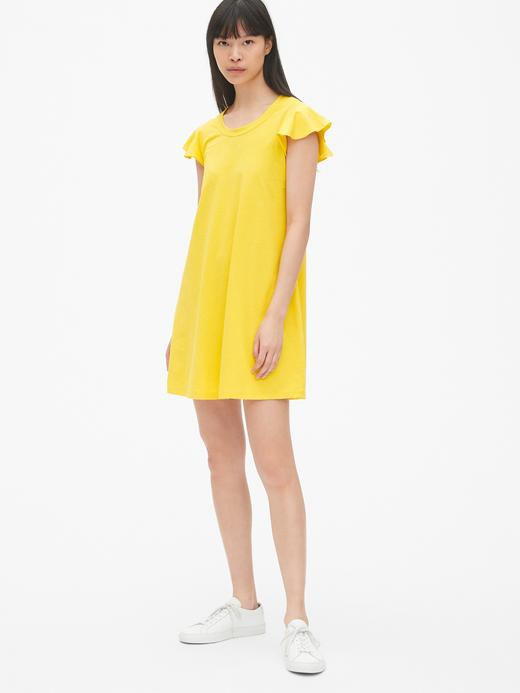 Kadın sarı Kadın Kısa Kollu Elbise
