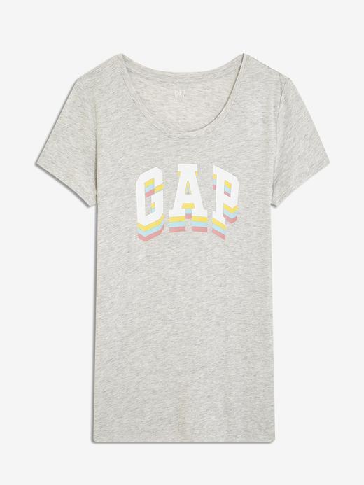 Kadın gri Gap Logo T-Shirt