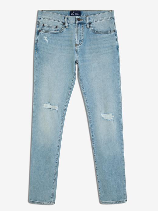 Erkek Mavi Erkek Skinny Fit GapFlex Jean
